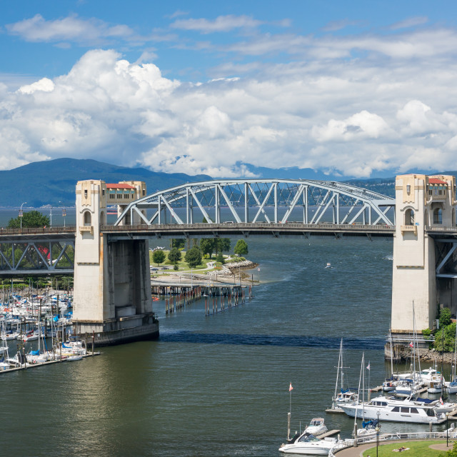 """Burrard Bridge"" stock image"