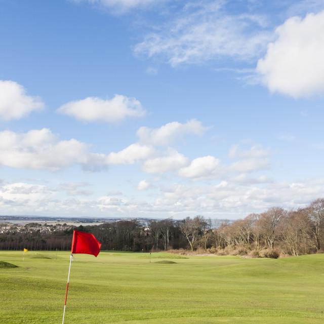 """Golf flag"" stock image"