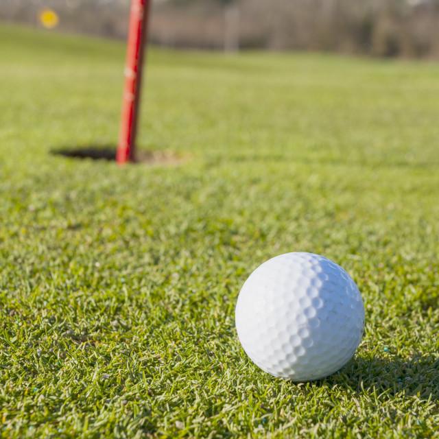 """Golf green"" stock image"