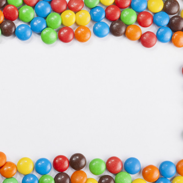 """""""Chocolate candies frame"""" stock image"""