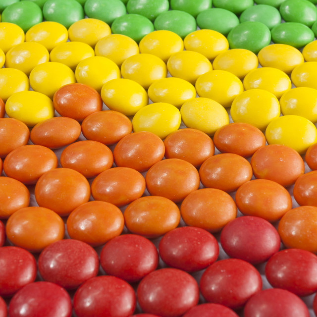 """""""Colorful Chocolate Candy"""" stock image"""