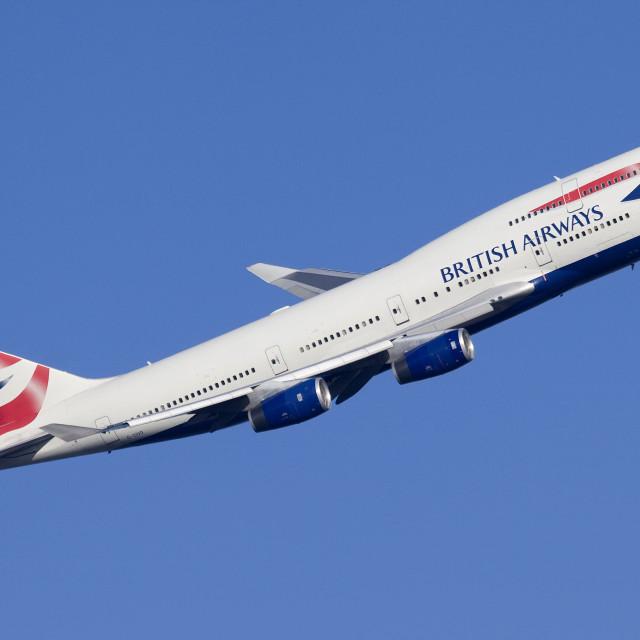 """""""British Airways 747-436 G-CIVG"""" stock image"""