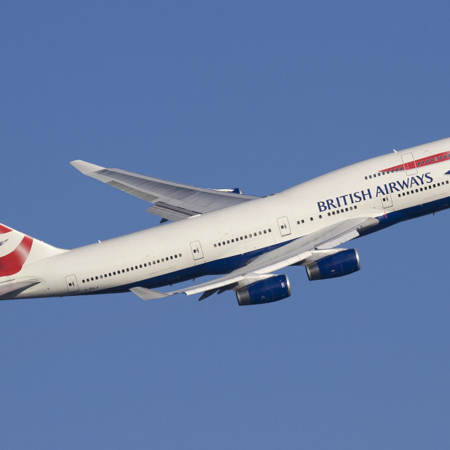 """British Airways 747-436 G-BNLA"" stock image"