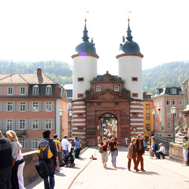 """The City Gates of Heidelberg"" stock image"