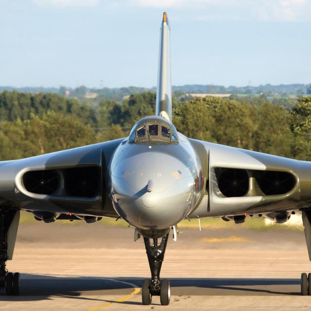 """Avro Vulcan XH558 G-VLCN"" stock image"