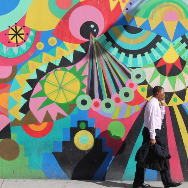 """Funky street art"" stock image"