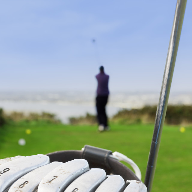 """Golf Swing"" stock image"