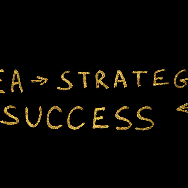 """Ideia, Strategy and Success conception texts"" stock image"