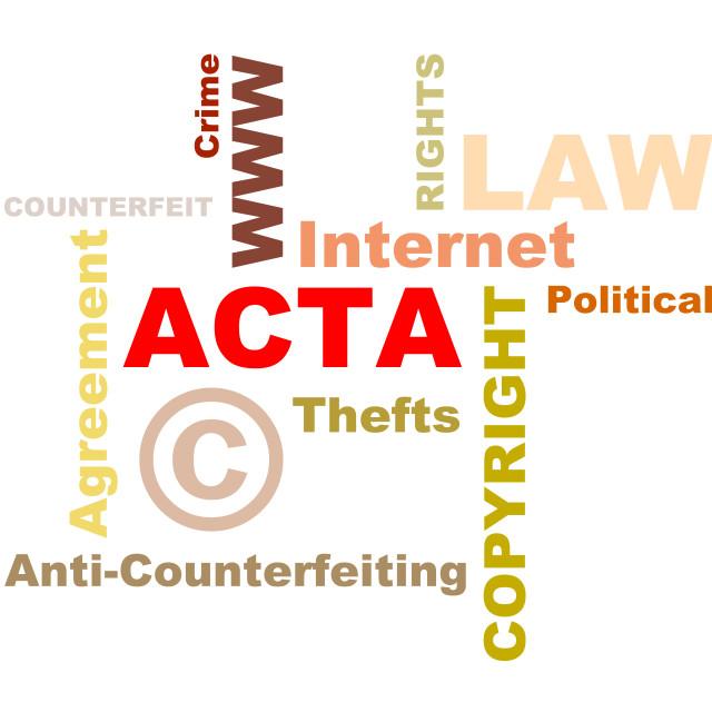 """ACTA conception texts"" stock image"