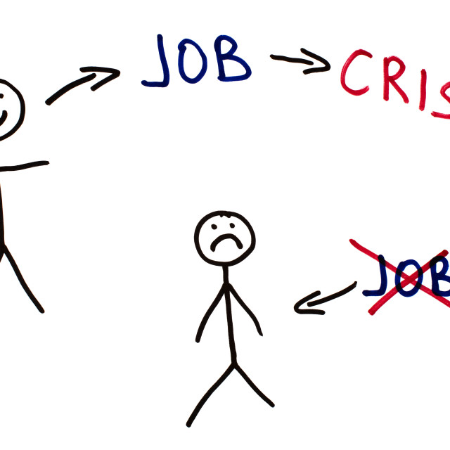 """Job and crisis conception illustration"" stock image"