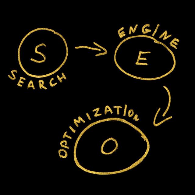 """SEO Optimization conception text"" stock image"