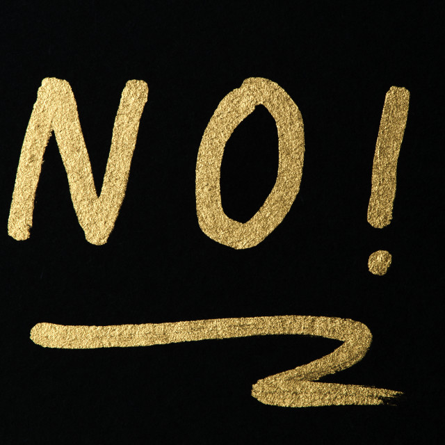 """Text NO"" stock image"