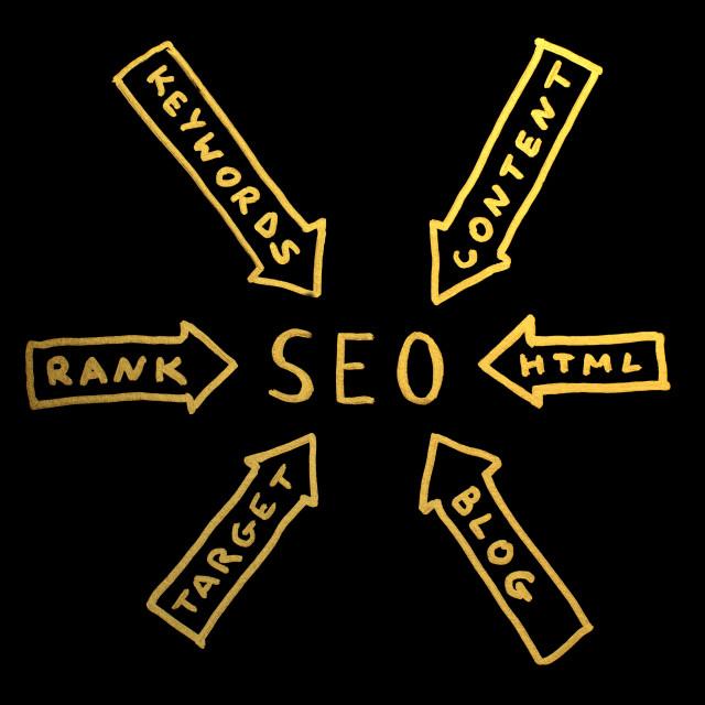"""Word SEO.Search engine optimization"" stock image"