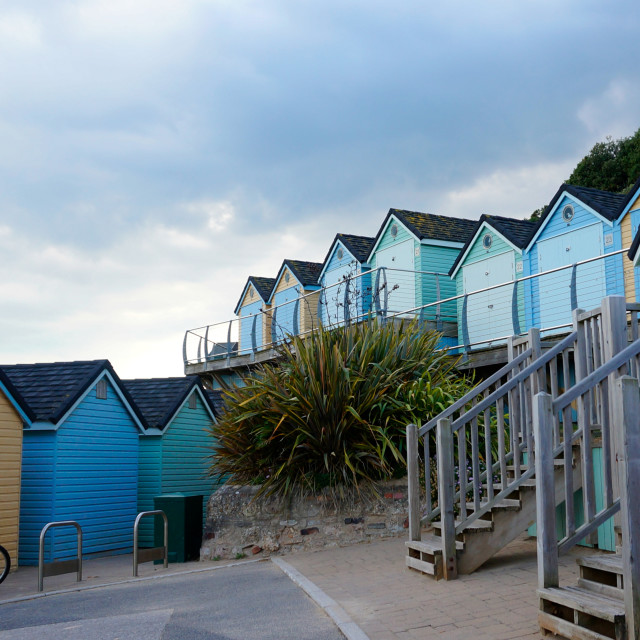 """A summers day in bournemouth"" stock image"