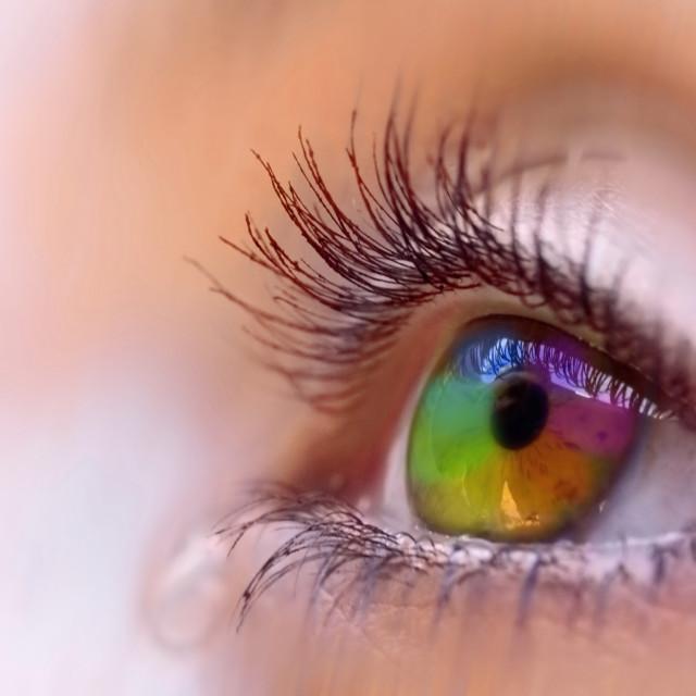 """rainbow vision"" stock image"
