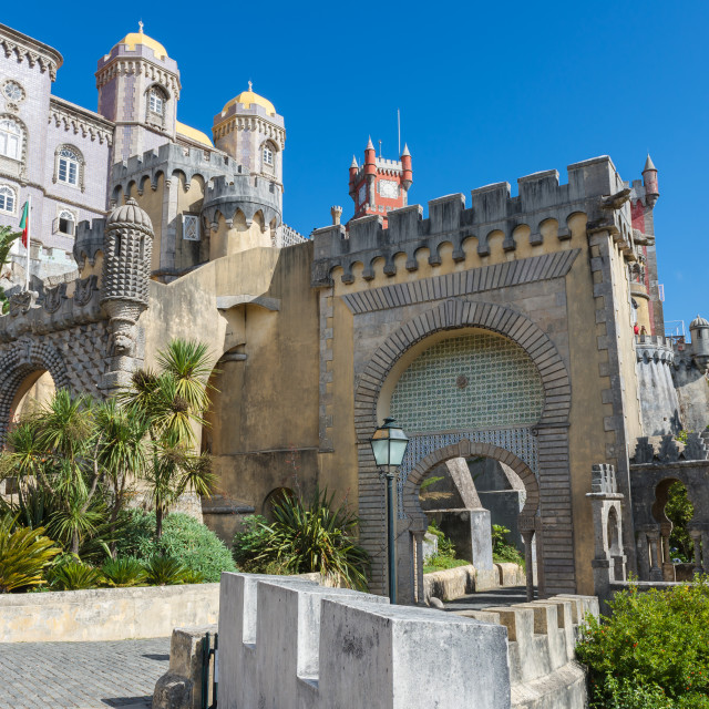 """Da Pena Palace in Sintra"" stock image"