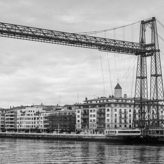 """Portugalete pending bridge"" stock image"