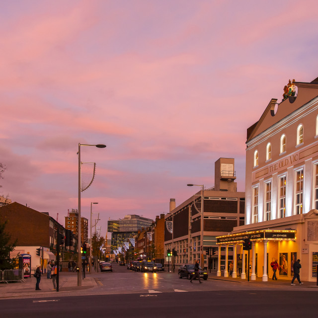 """""""The Old Vic-London"""" stock image"""