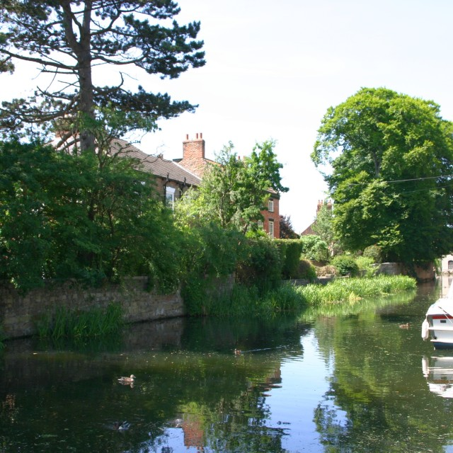 """Ripon Canal"" stock image"