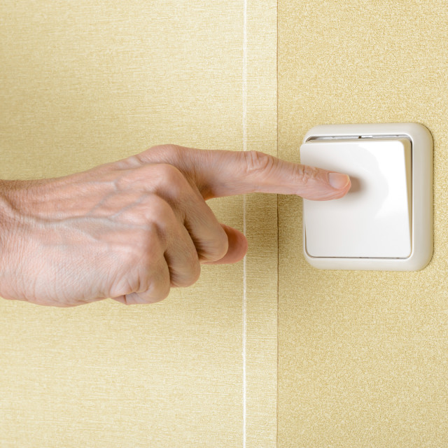 """""""Switch the Light"""" stock image"""