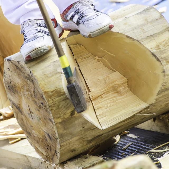 """Woodcutter"" stock image"