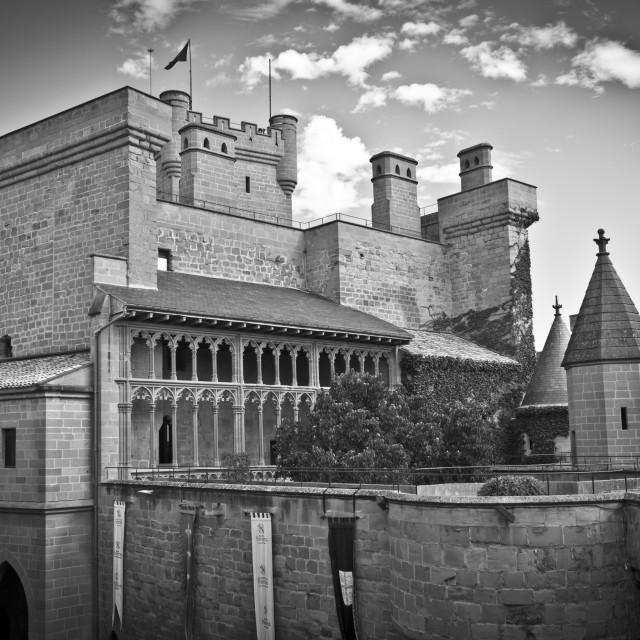 """Olite Castle, Navarre"" stock image"
