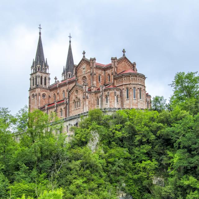 """""""Covadonga, Asturias,"""" stock image"""