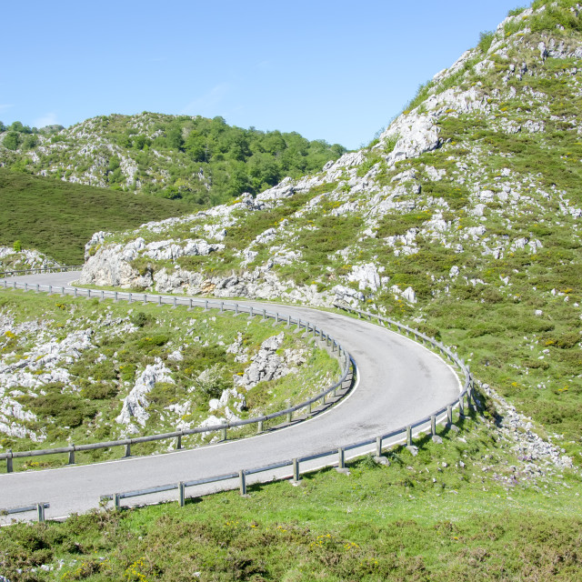 """Road in Picos de Europa in Asturias,spain"" stock image"