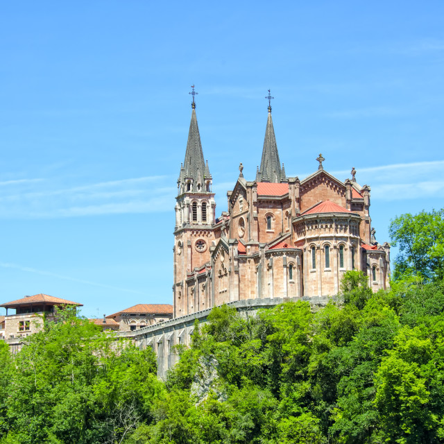 """Covadonga church"" stock image"