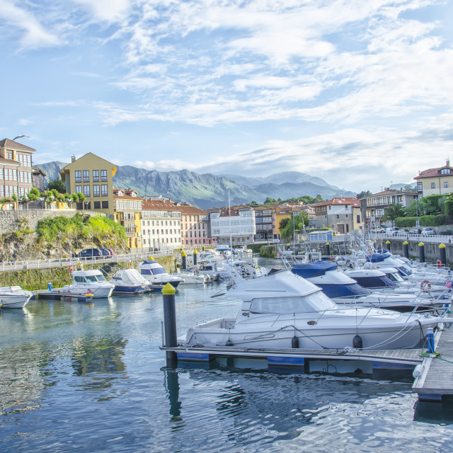 """Llanes port"" stock image"