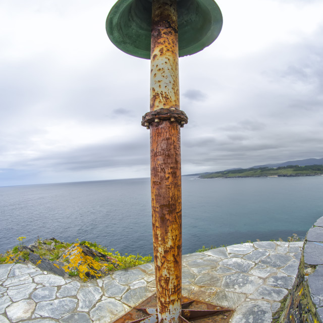 """Bell in the lighthouse of Ortiguera"" stock image"