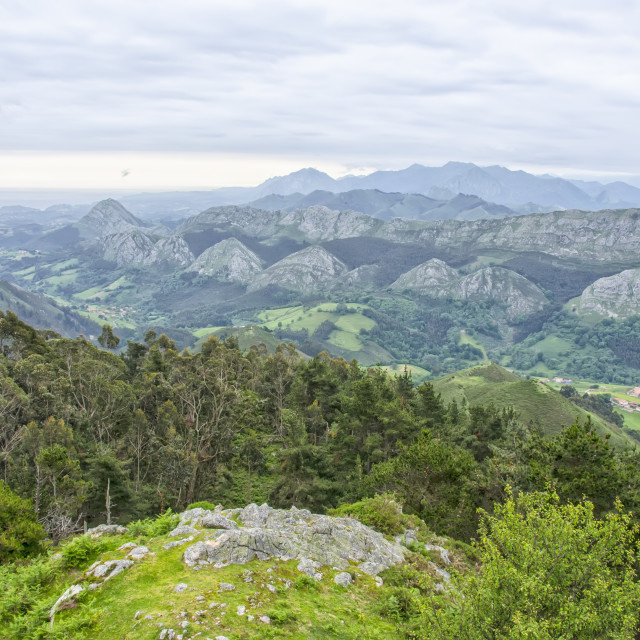 """View of the Picos de Europa"" stock image"