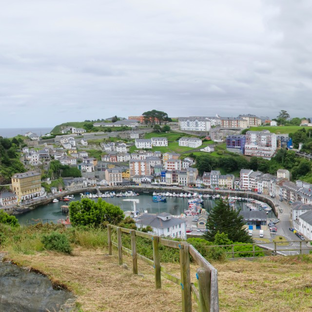 """Landscape of Luarca"" stock image"