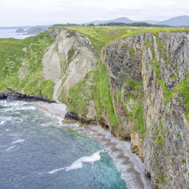 """Cliffs in Asturias"" stock image"