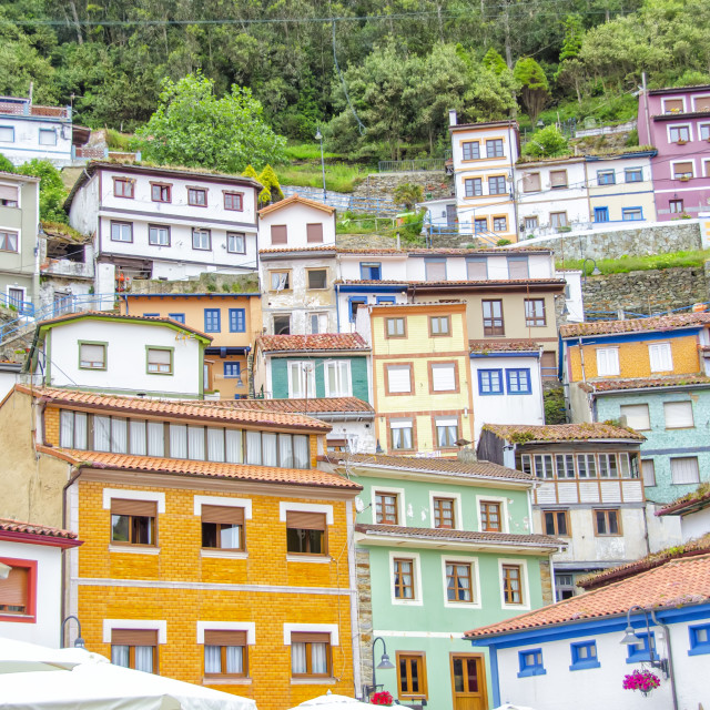 """Cudillero, Spain"" stock image"