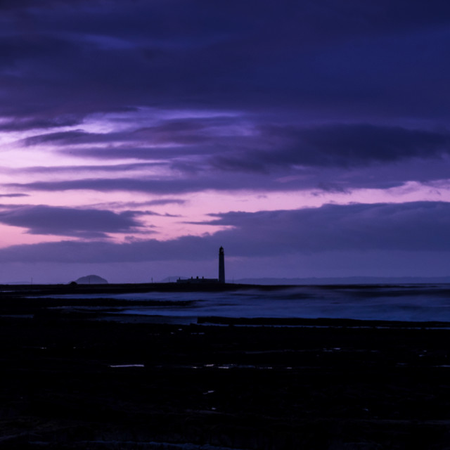 """East Lothian Sunset"" stock image"