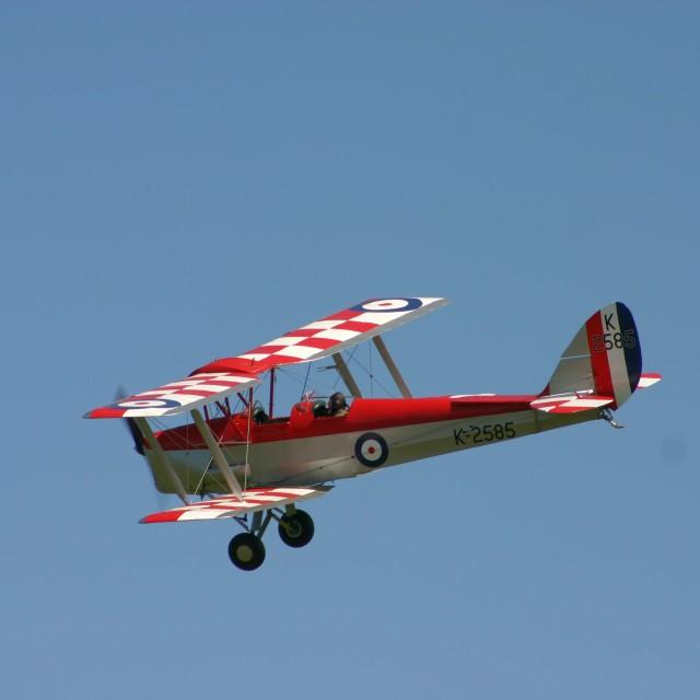 """De Havilland DH82a Tiger Moth K2585"" stock image"