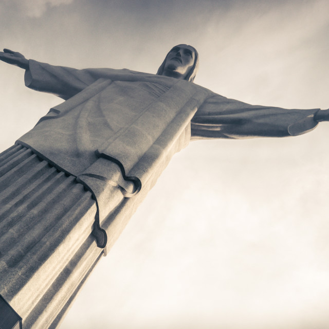 """Christ the Redeemer (Cristo Redentor) in Rio, Brazil."" stock image"