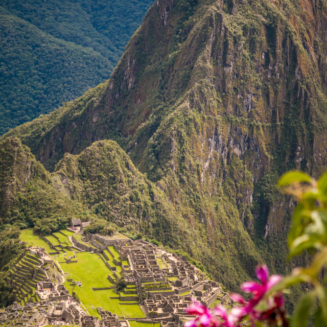 """Machu Picchu as seen from Machu Micchu Mountain"" stock image"