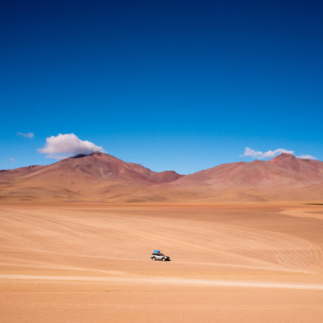 """4wd driving across the San Pedro de Atacama desert"" stock image"