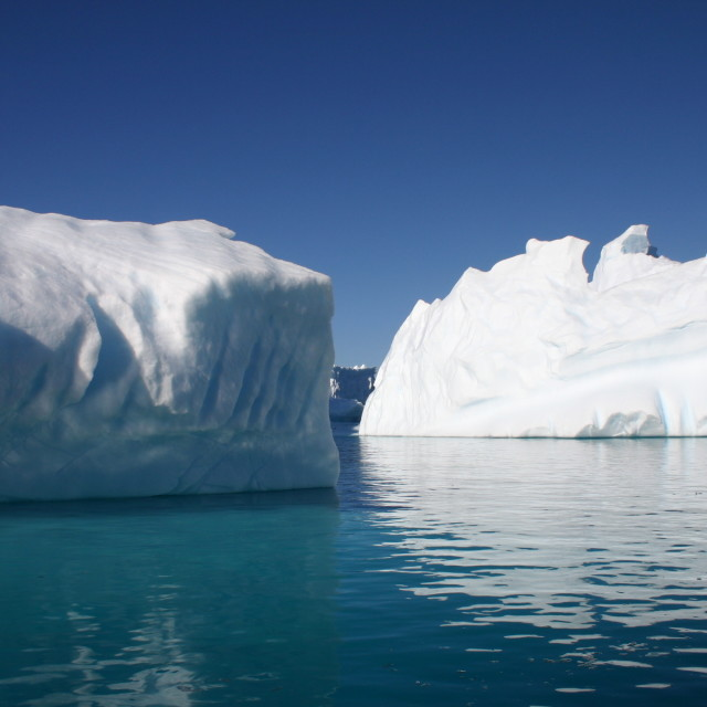 """Antarctic ice scenery"" stock image"