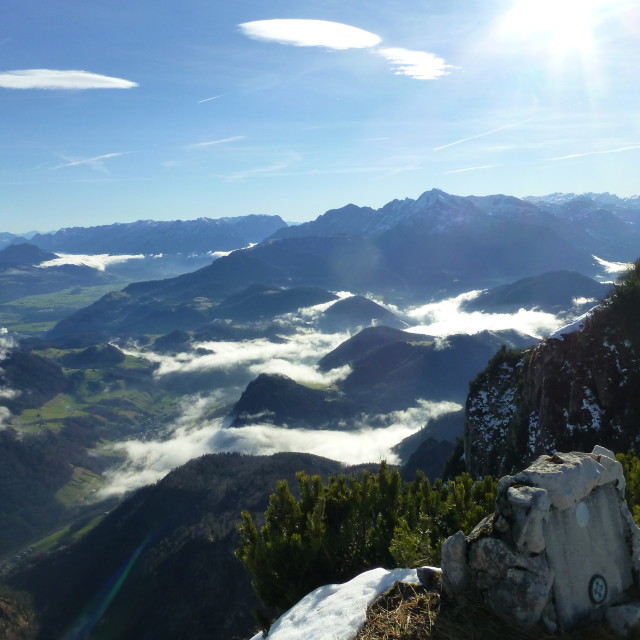 """Austrian mountain view on Untersberg"" stock image"