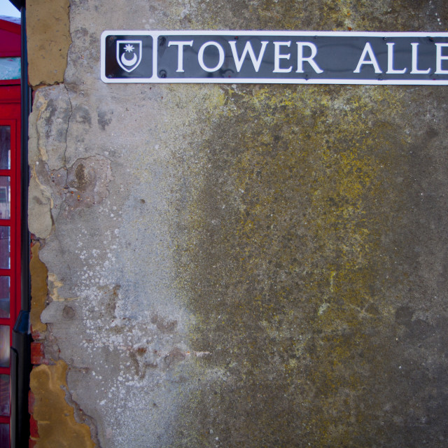 """""""Tower Alley Old Portsmouth"""" stock image"""