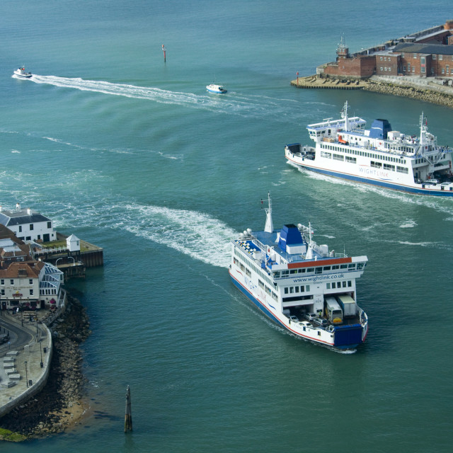 """""""Portsmouth Ferry"""" stock image"""
