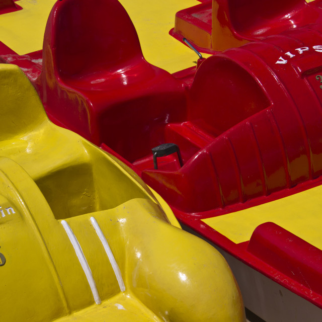 """""""Red and Yellow Pedalos"""" stock image"""