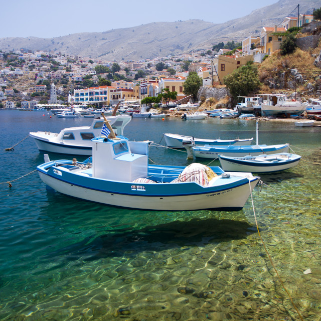"""Symi Fishing Boat"" stock image"