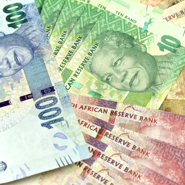 """South African, New Bank Notes"" stock image"
