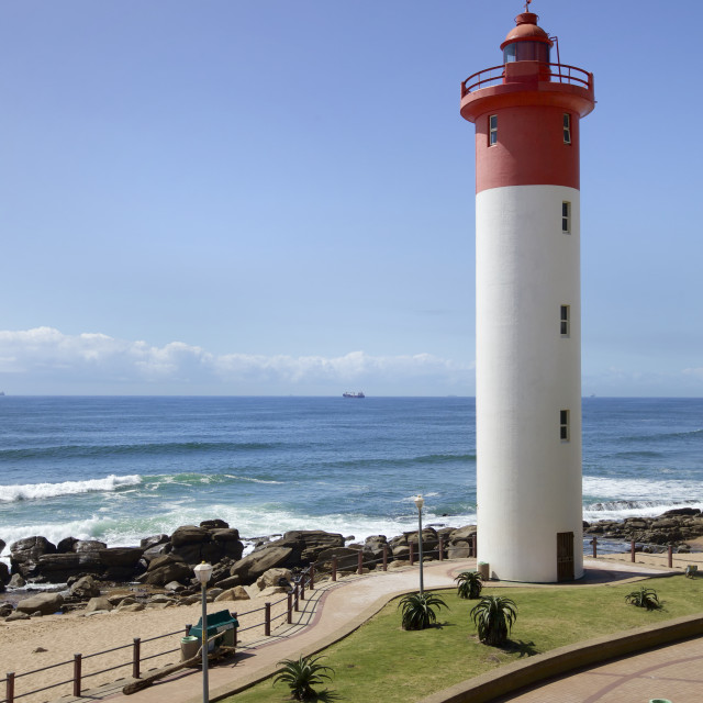 """Lighthouse in Umhlanga, Natal"" stock image"