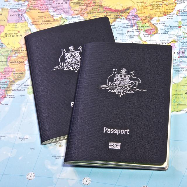 """Australian Passports"" stock image"