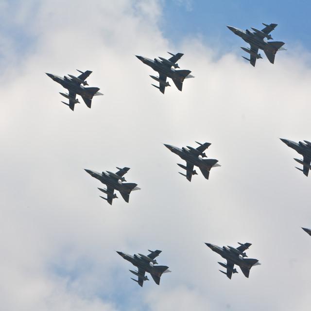"""""""Plane, synchronized"""" stock image"""
